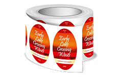 Roll Labels (Stickers) - Oval Clear Poly